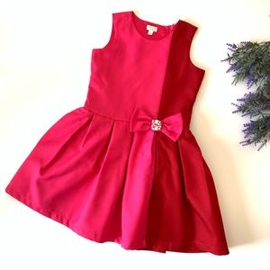 The Children's Place Color Block Red & Pink Dress